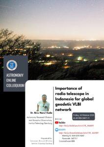 Colloquium Oct 16 2020: Radio Telescope in Indonesia