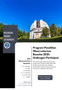 Colloquium 22 Jan 2021: Bosscha Observatory Research Program 2021