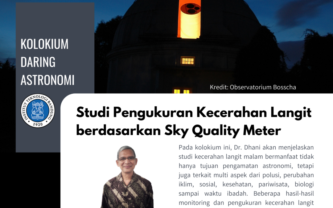 Online Colloquium 5 March 2021: Study of Sky Brightness Measurement Using Sky Quality Meter