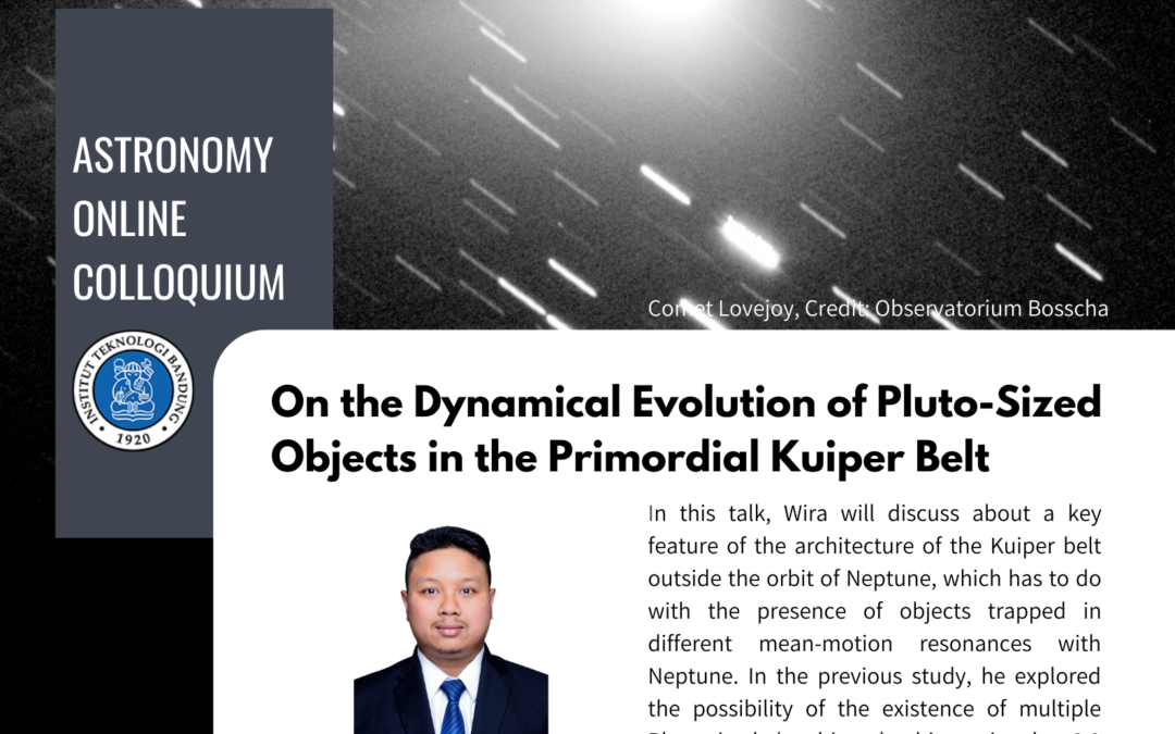 Colloquium 19 March 2021: On the Dynamical Evolution of Pluto-Sized Objects in the Primordial Kuiper Belt